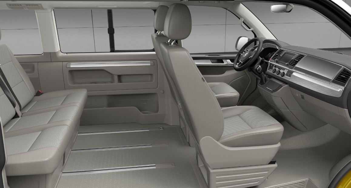 Interior del Volkswagen California.