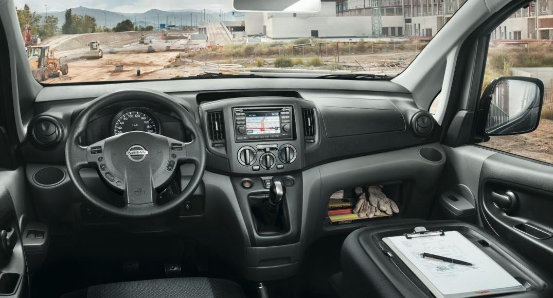 Interior de la Nissan NV 200.