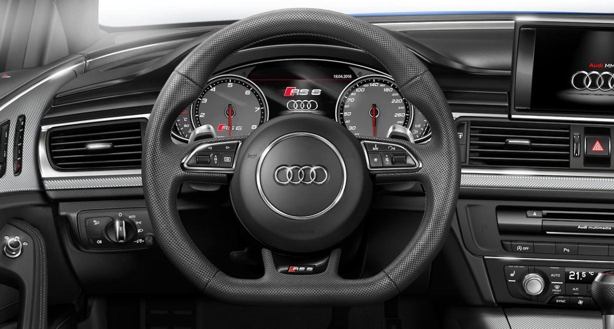 interior del Audi RS6 Avant 2017