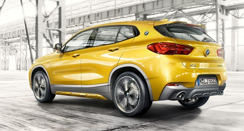 Visión posterior del nuevo BMW X2