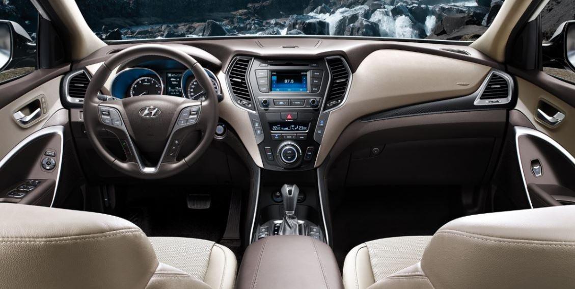 Interior Hyundai Santa fe 2017