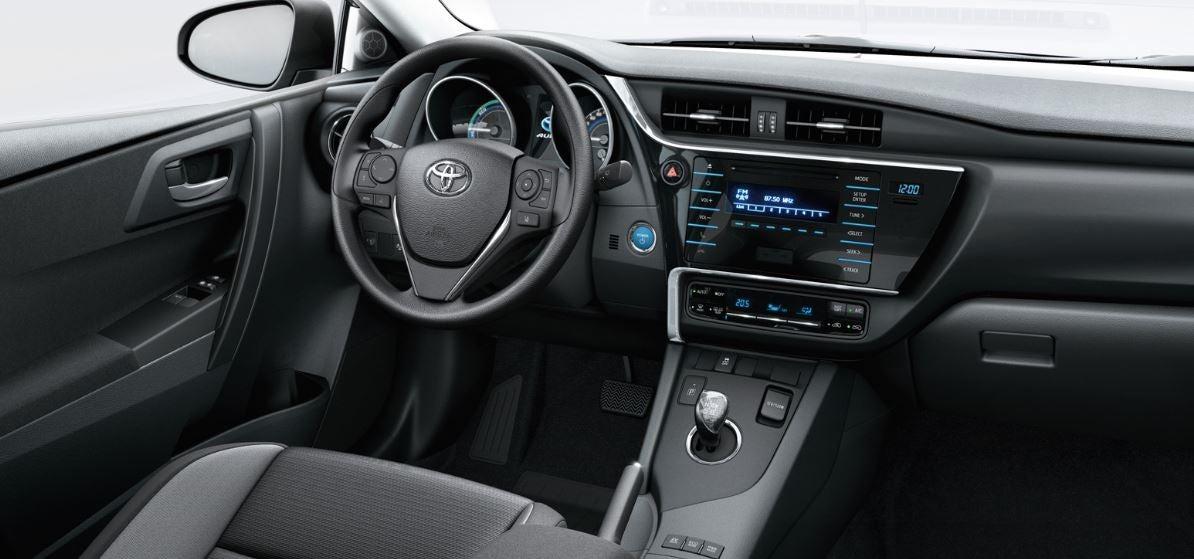 Interior de la nueva versión del Toyota auris
