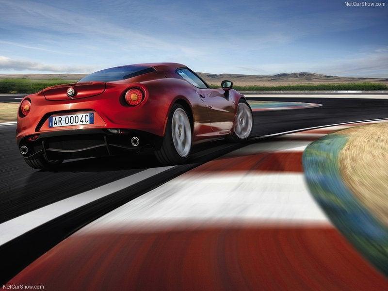 Alfa Romeo 4C: trasera