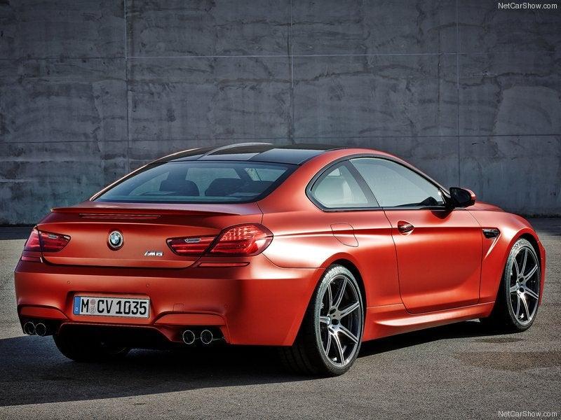 BMW M6: trasera