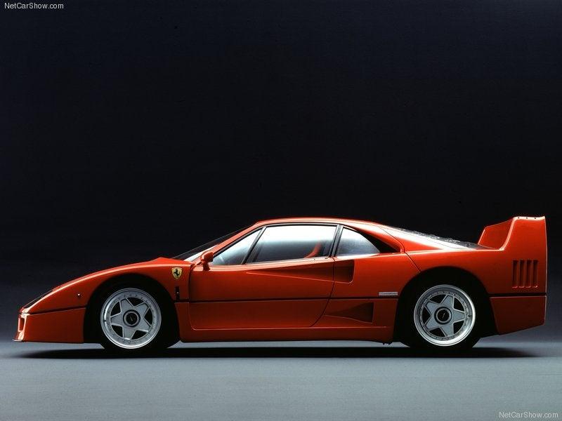 Ferrari F40 1987: lateral