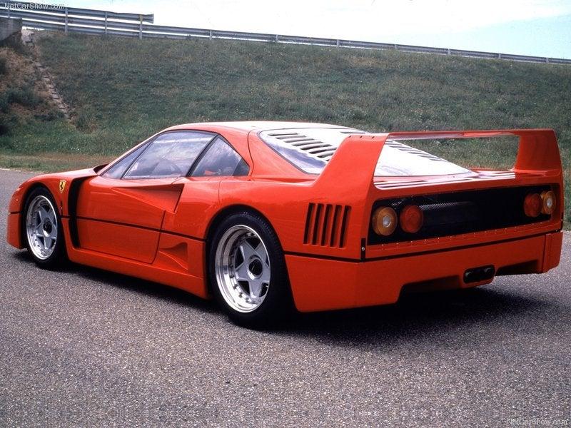 Ferrari F40 1987: trasera