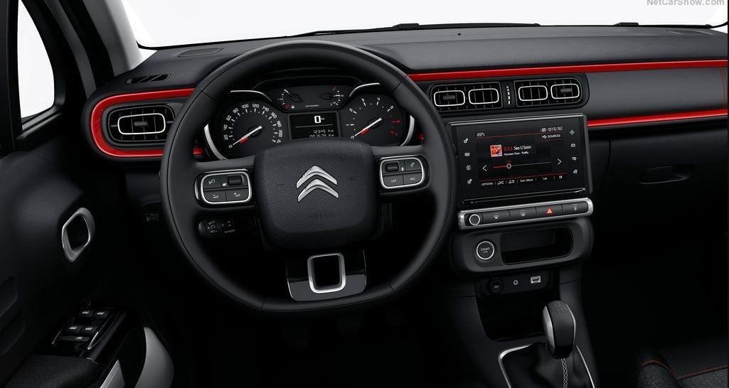 Interior del Citroën C3.