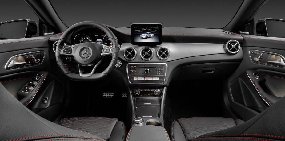 Interior del Mercedes CLA.