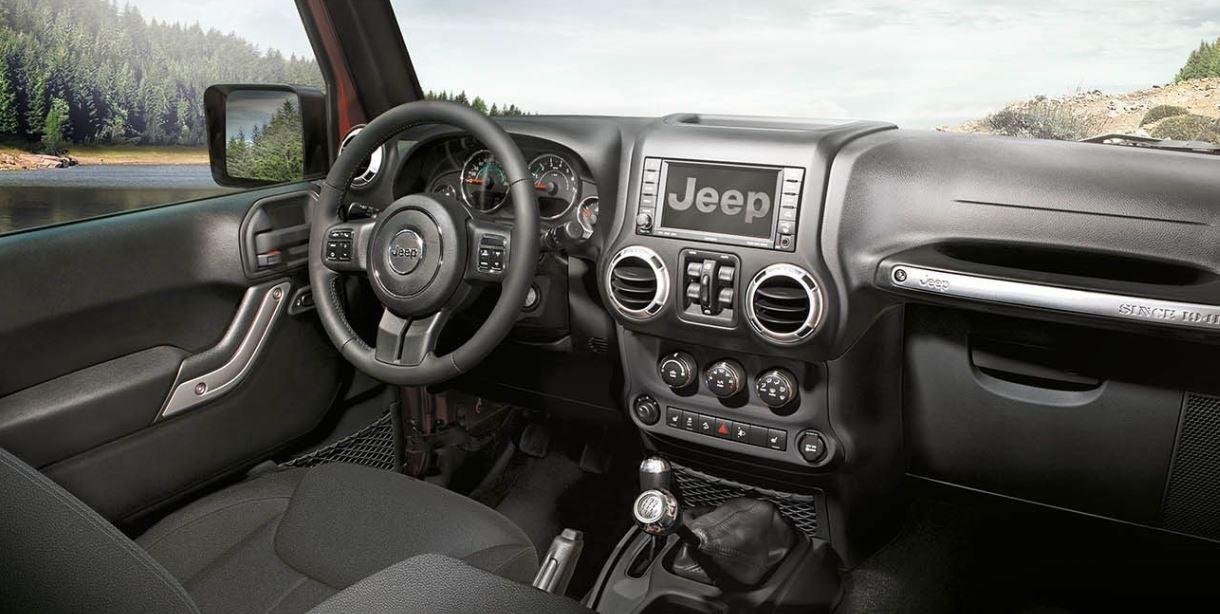 Interior del nuevo Jeep Wrangler
