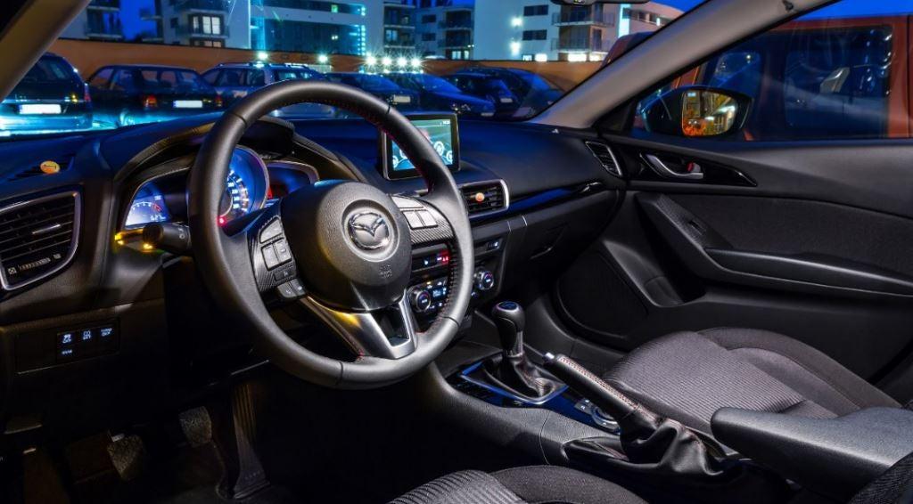 Imagen del interior del Mazda3