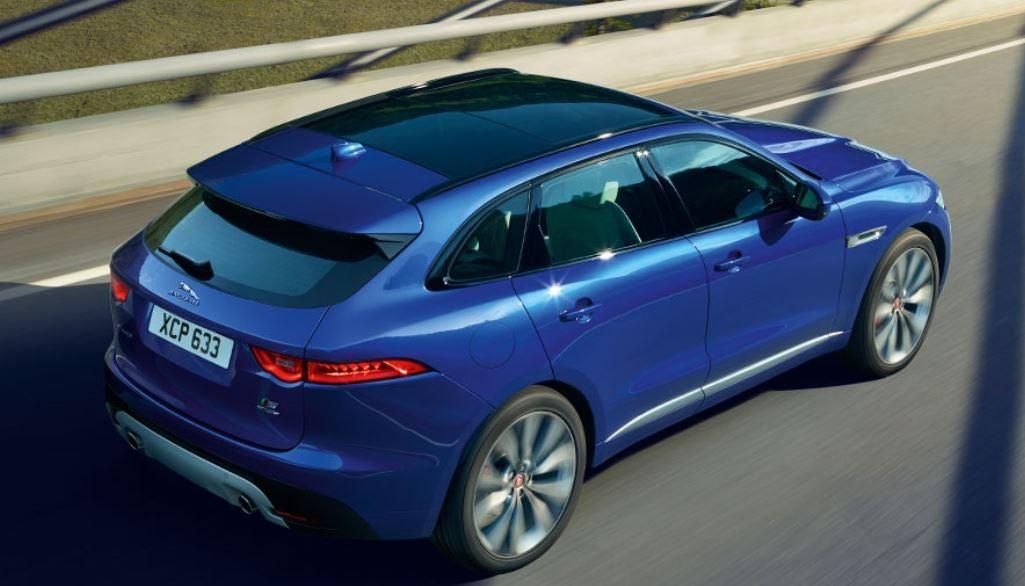 Vista posterior del Jaguar E-pace SUV lujo diseño