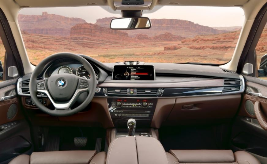 Aspecto interior del BMW X5.