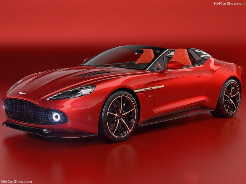 Aston Martin Vanquish Zagato Speedster: frontal