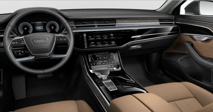 Interior nuevo Audi A8 berlina alemana grande lujo diseño