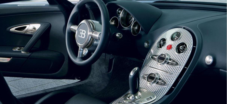 Interior del Bugatti Veyron, sinónimo de lujo y deportividad