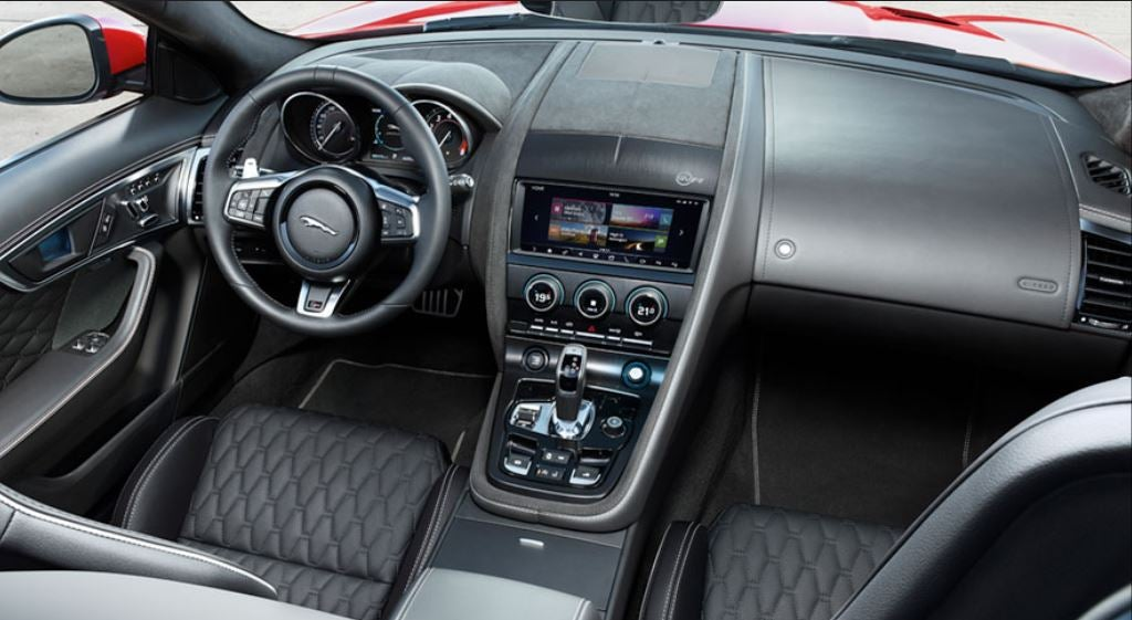 Interior del nuevo Jaguar F-Type 2018 lujo clase
