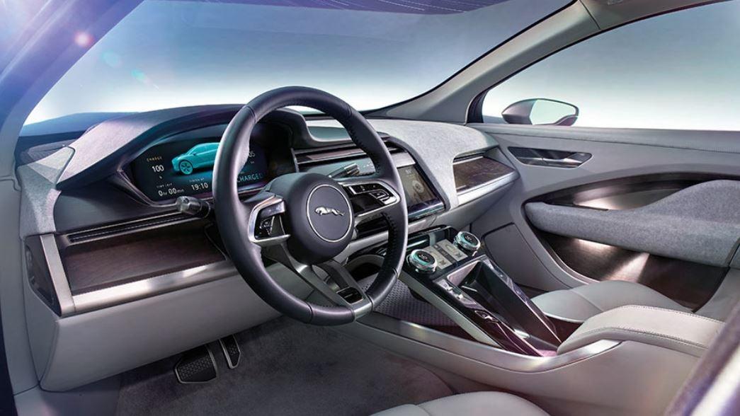 Interior del Jaguar I-Pace coche eléctrico SUV 2018