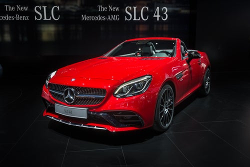 Roadster Mercedes SLC deportivo: frontal