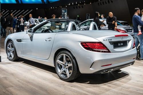 Roadster Mercedes SLC deportivo: trasera