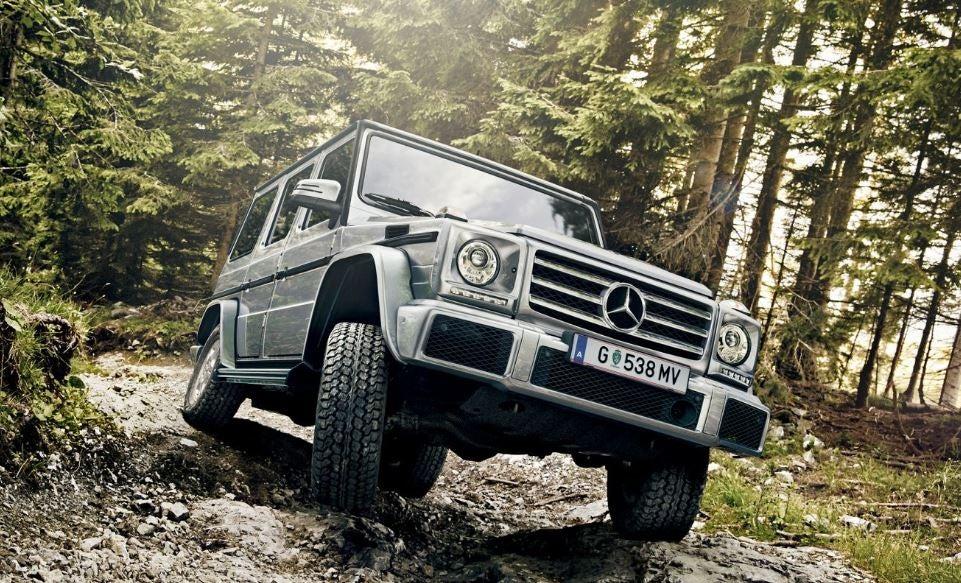 Todoterreno Mercedes Clase G: frontal