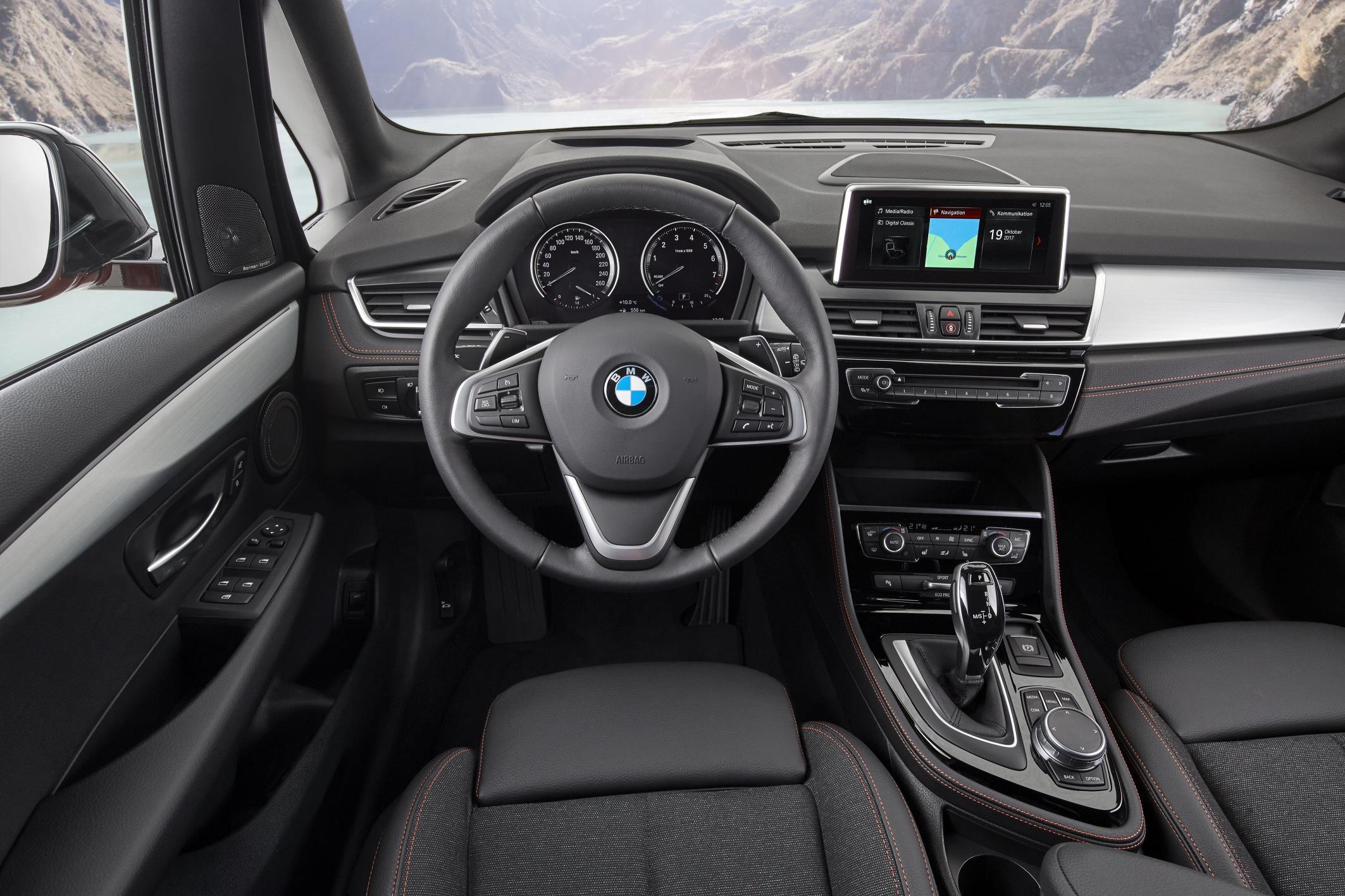 Comparativa de los BMW Serie 2 Active y Gran Tourer: interior