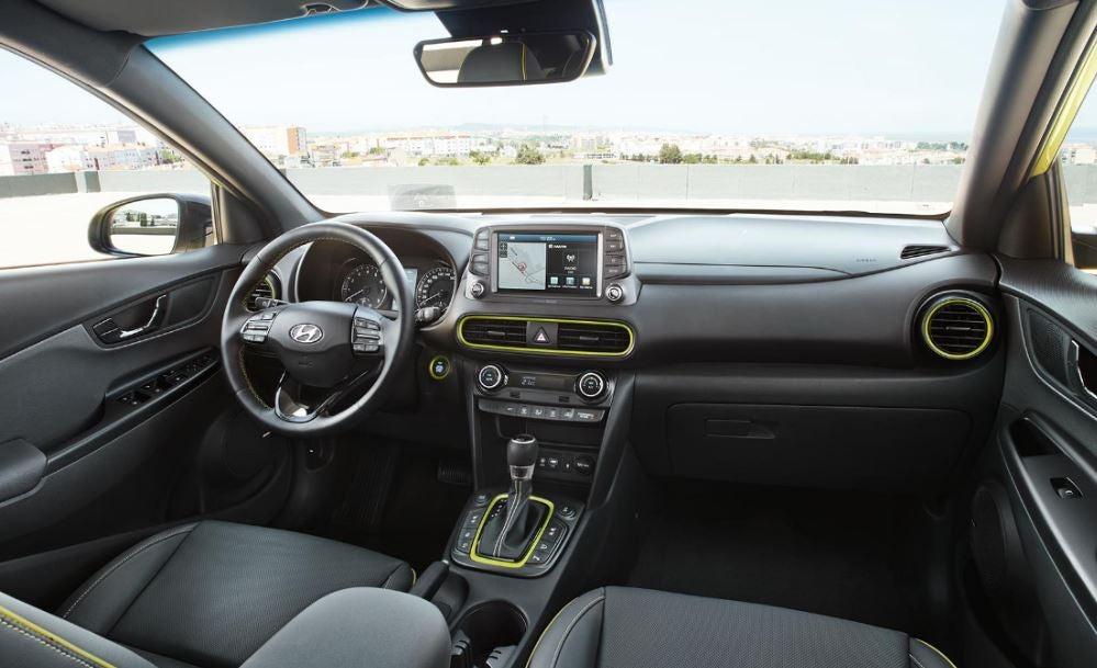 Interior del nuevo Hyundai Kona.