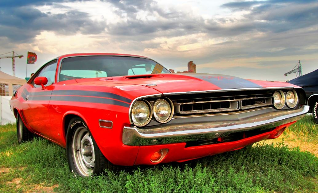muscle car Dodge Challenger.