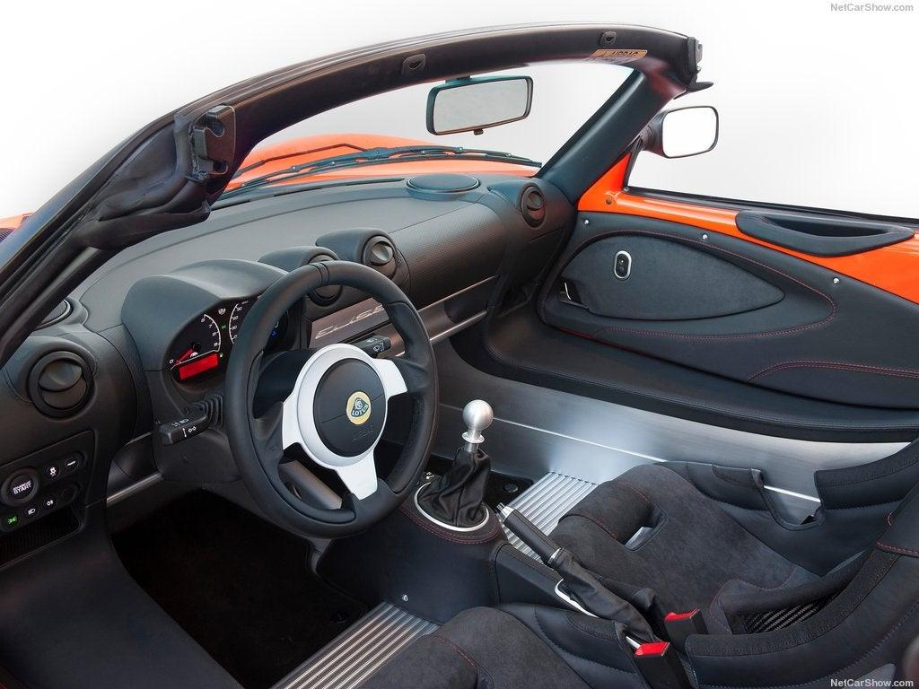Roadster Lotus Elise deportivo: interior
