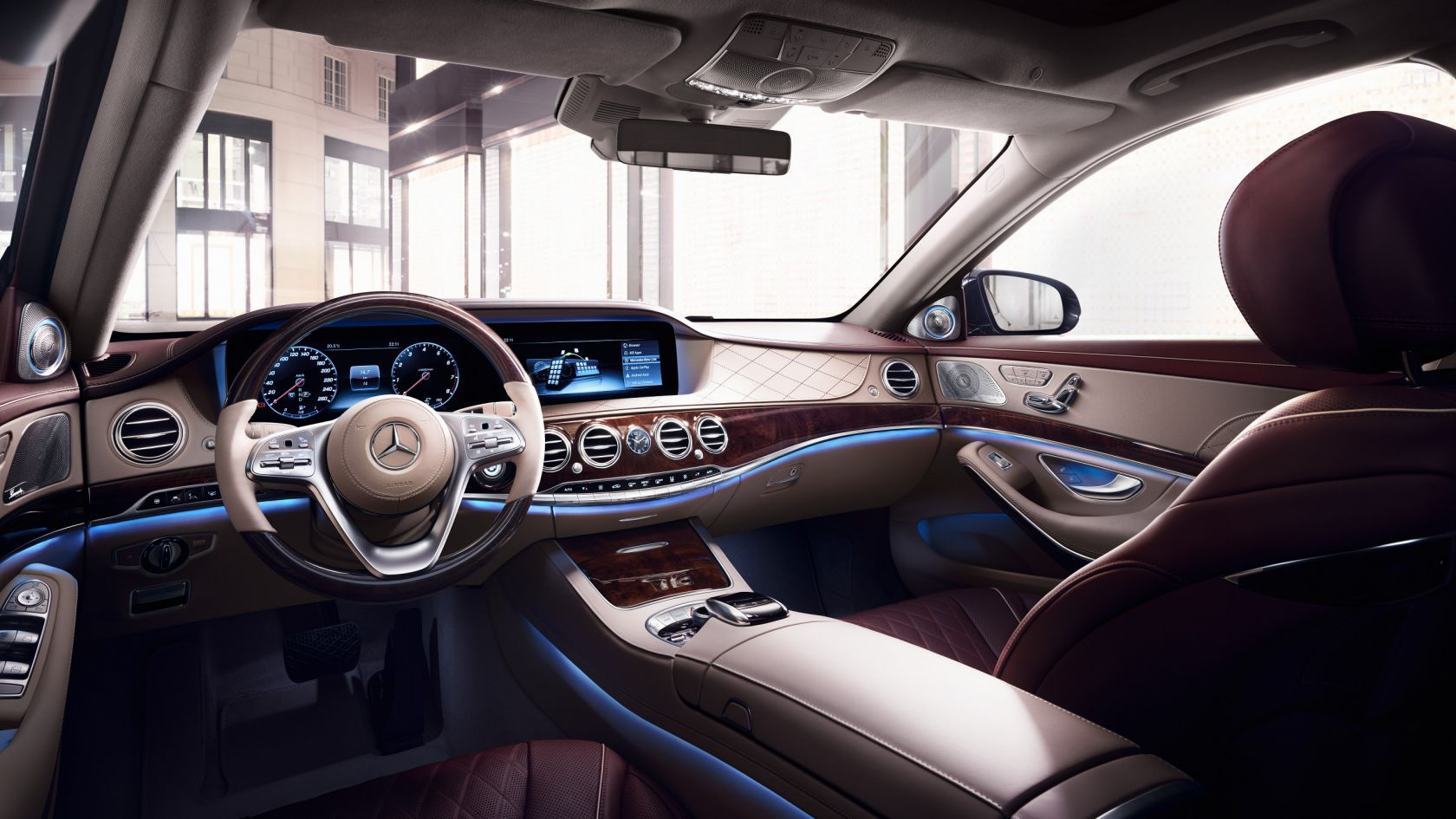 Berlina Mercedes Clase S: interior