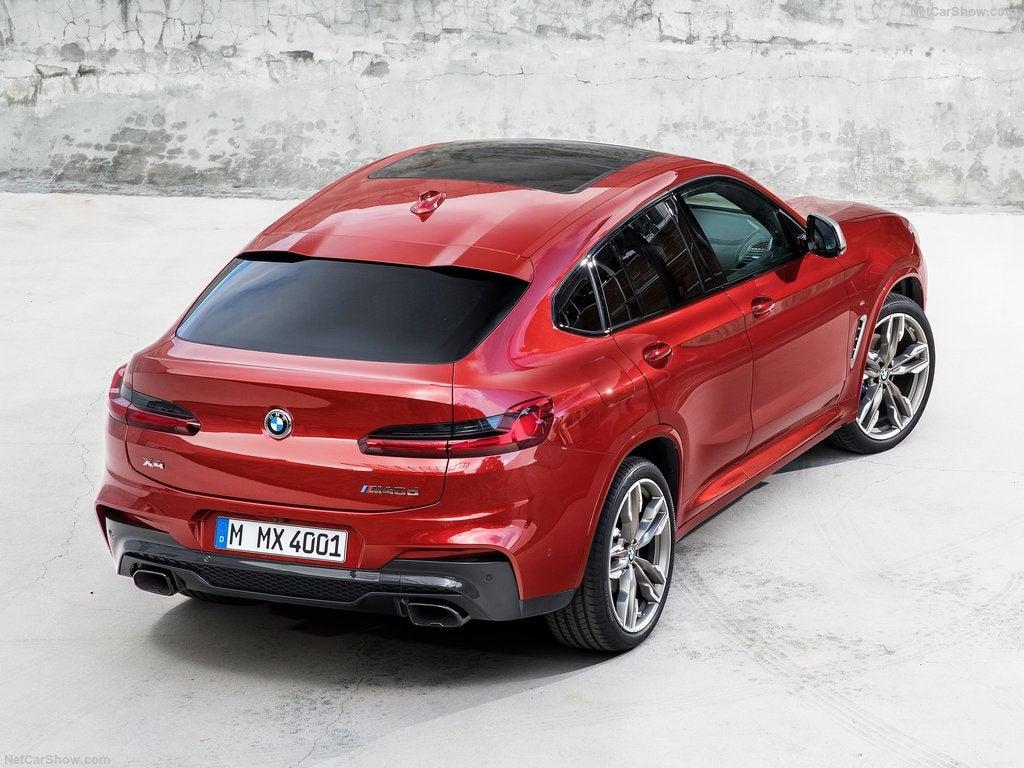 BMW X4 2018: vista aérea
