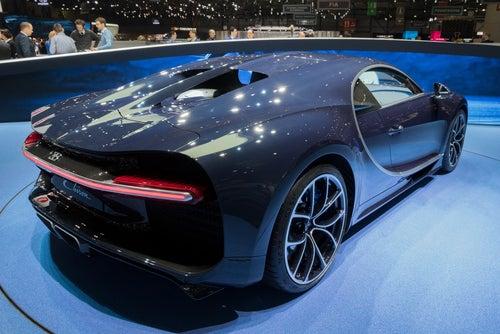 Bugatti Chiron: trasera