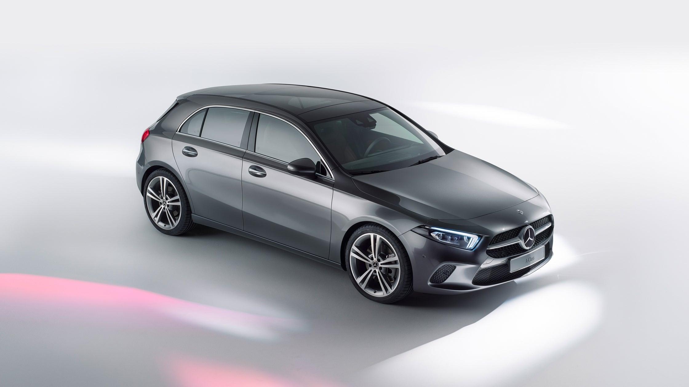 Compacto Mercedes Clase A 2018: vista aérea