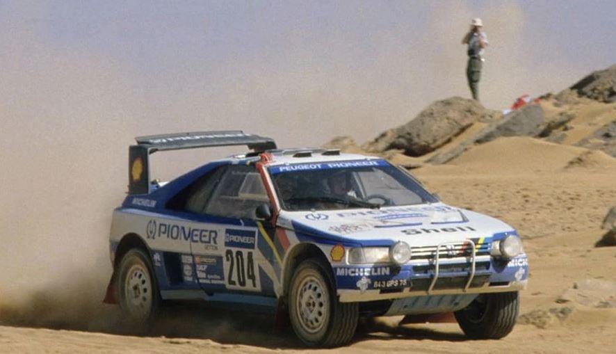 El Peugeot robado de Ari vatanen.