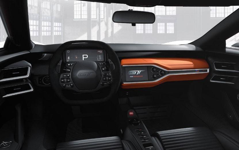 Nuevo Ford GT interior.