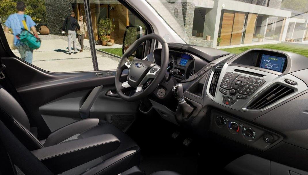 Interior del Ford Transit Custom.
