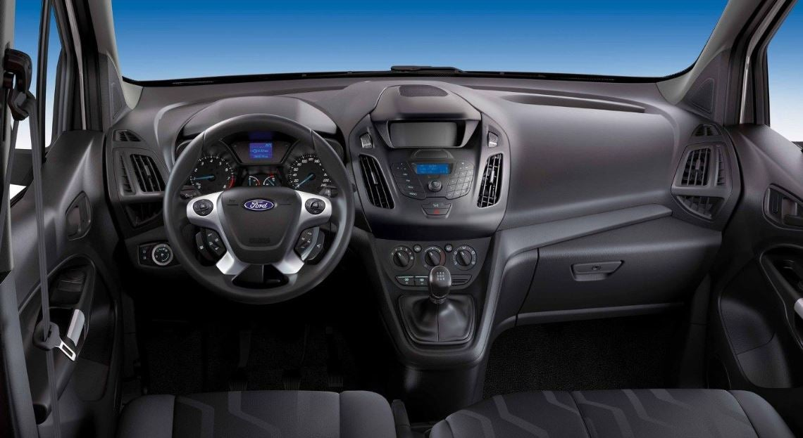 Interior del Ford Transit Connect.