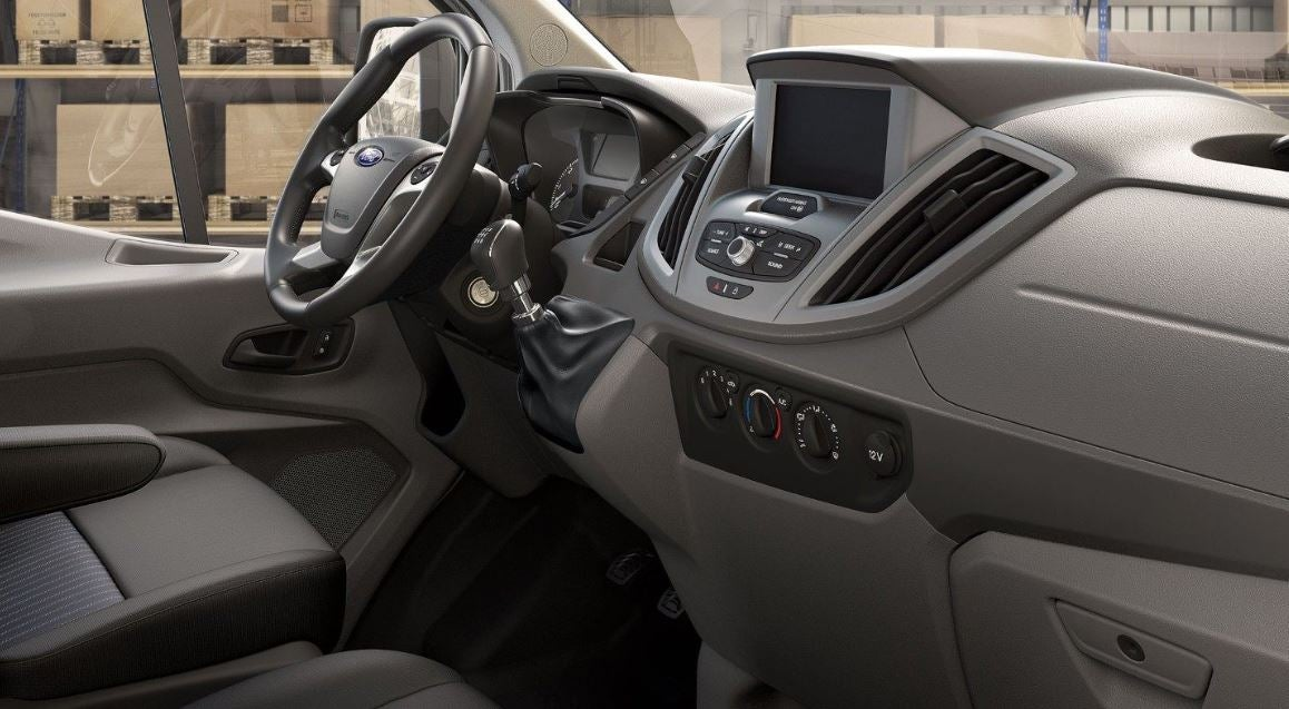 Interior del Ford Transit.