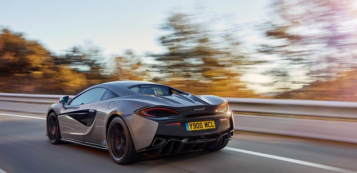 McLaren 570S: trasera