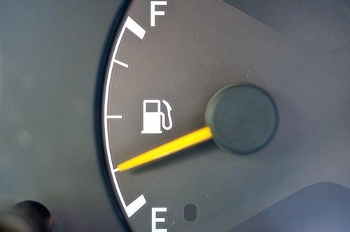 Quedarse sin gasolina: multa