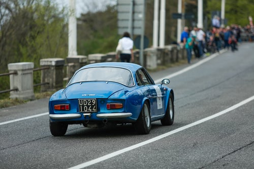Renault Alpine A110 rally: trasera