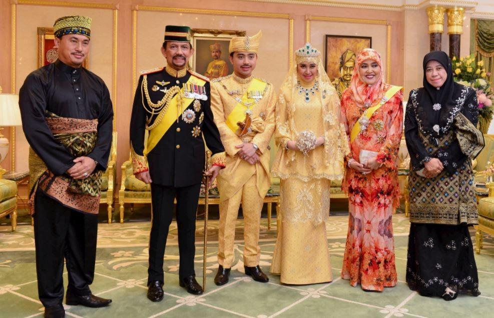 El Sultán de Brunei y su familia.