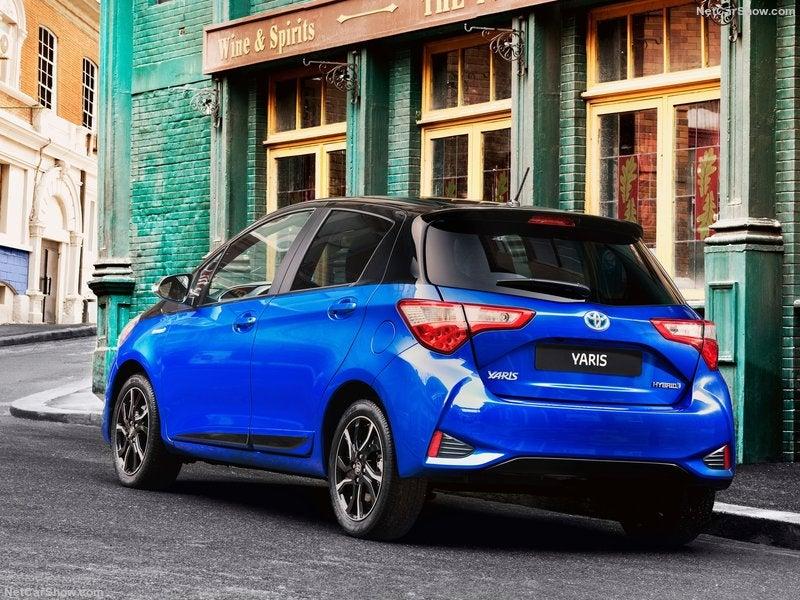 Toyota Yaris híbrido: trasera