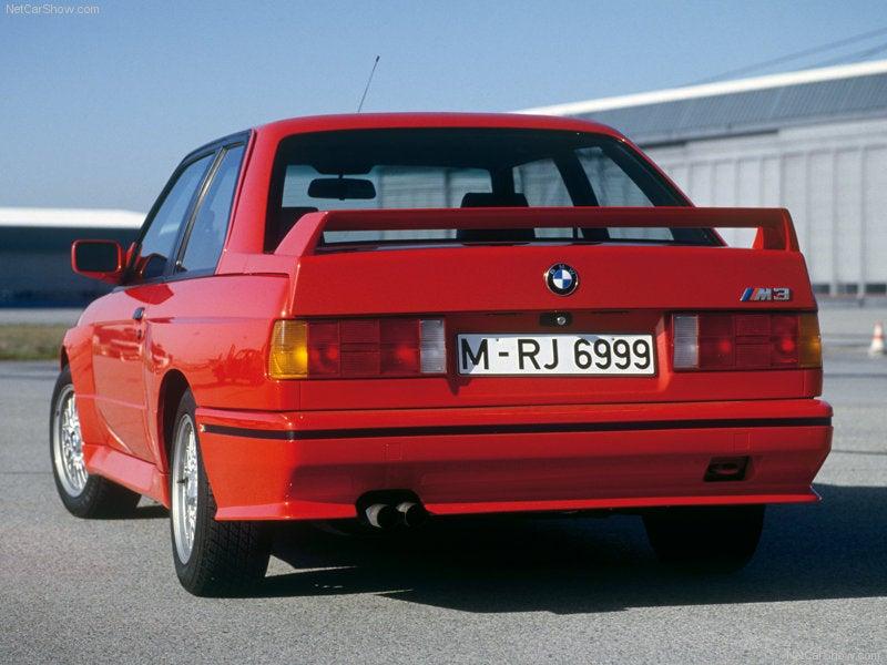 BMW M3 E30: trasera
