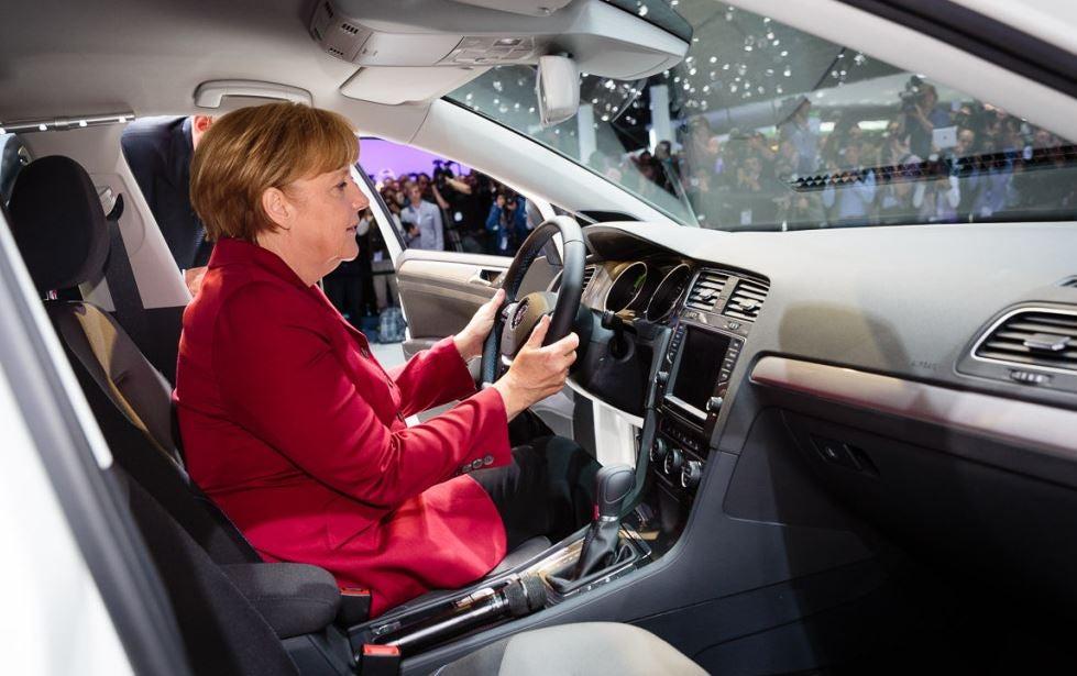 El coche de Angela Merkel