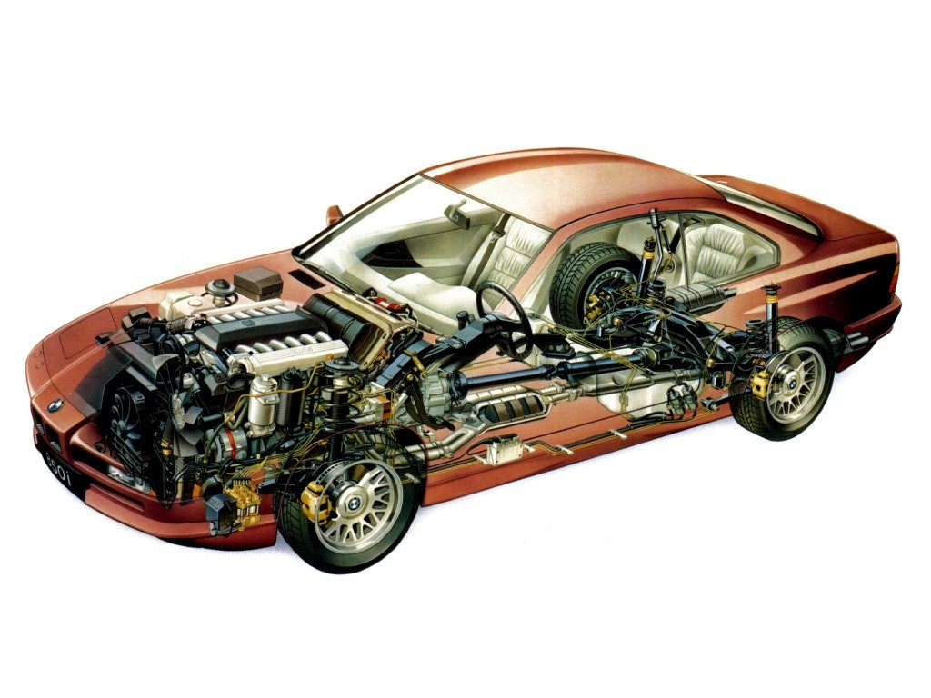 BMW Serie 8: chasis