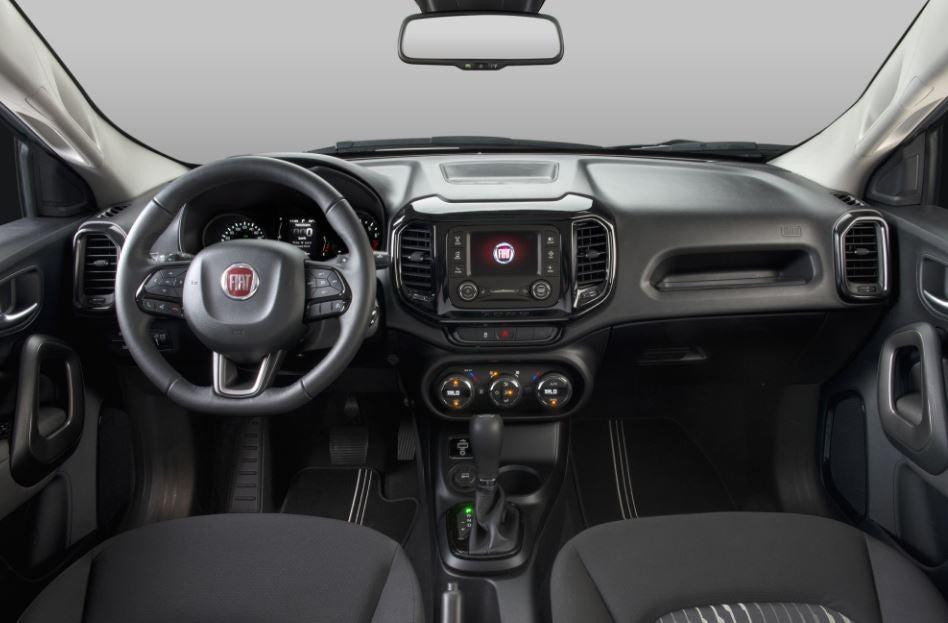 Interior del Fiat Toro.