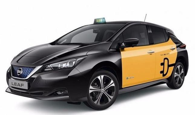 Nissan Leaf en taxi.