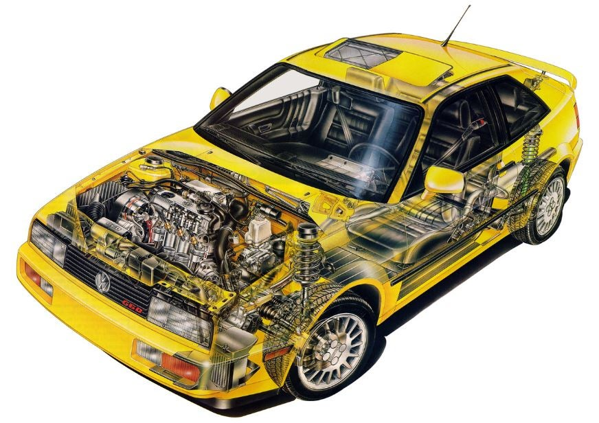 Volkswagen Corrado y su diseño.