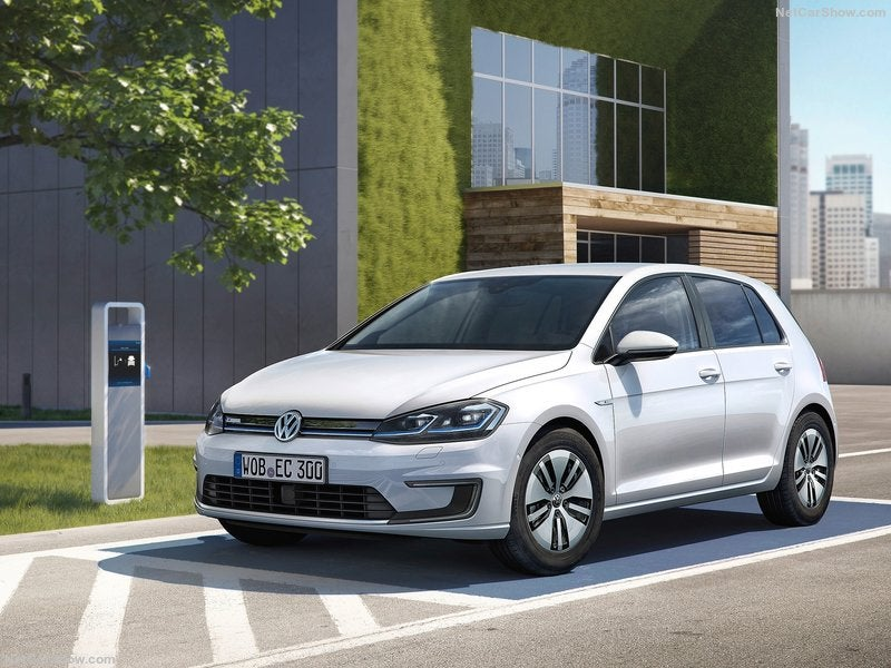 Volkswagen e-Golf eléctrico: frontal