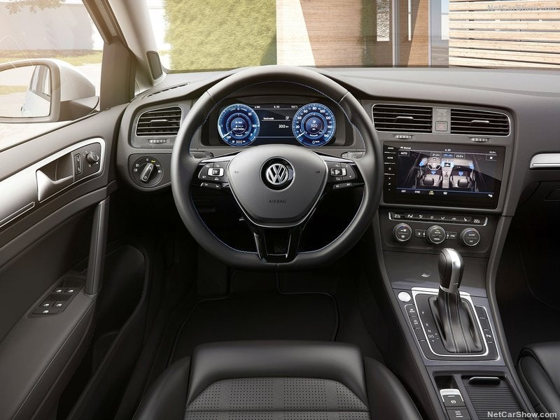 Volkswagen e-Golf eléctrico: interior